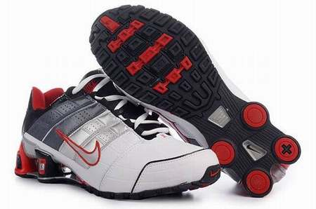 nike baskets cuir shox rivalry homme